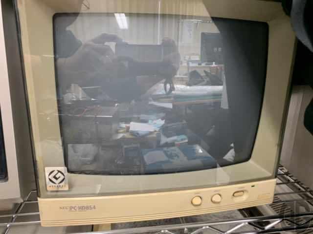 一番ピッタリなカラーモニタはNEC PC-KD854。これまた実家にあるはず…