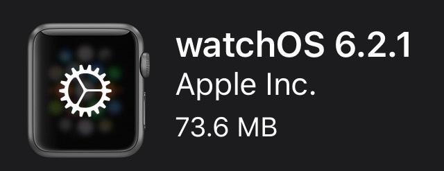 watchOS 6.2.1は1件のバグ修正のメンテナンスリリース