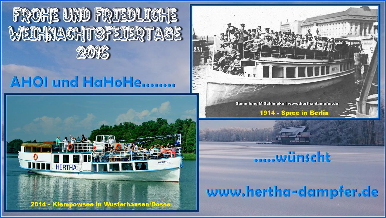 WEIHNACHTSGRÜSSE MIT DEM HERTHA-ECHO 595