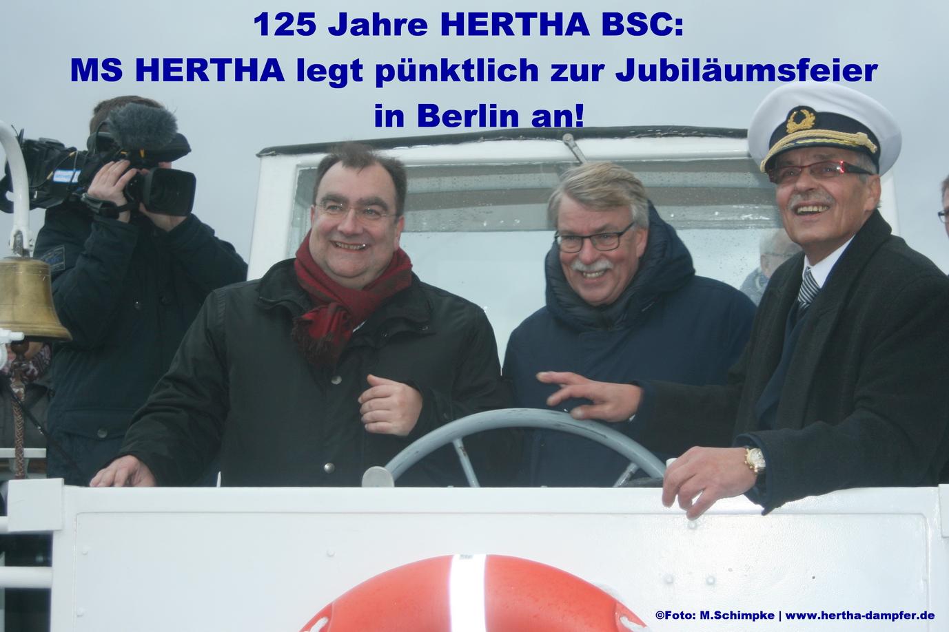 HERTHA kommt zum Jubiläum 125 Jahre HERTHA BSC nach Berlin !