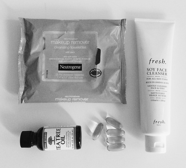 Fashion Resolutions 2014 - Solidify Skin Care Regimen ft. Fresh Soy Face Cleanser, Tea Tree Oil, Evening Primrose tablets, Neutrogena | DeSmitten