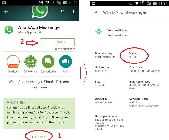 Cara download dan install WhatsApp di Googgle Playstore