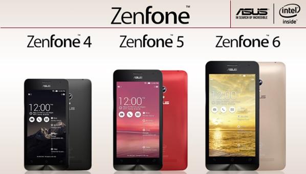 Perbandingan Asus Zenfone 4, Asus Zenfone 5, Asus Zenfone 6 dan Asus Zenfone 2