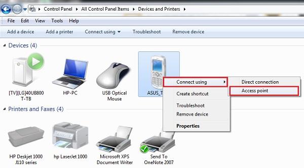 Bluetooth Tethering - Menghubungkan laptop kke jalur internet yang dimiliki smartphone