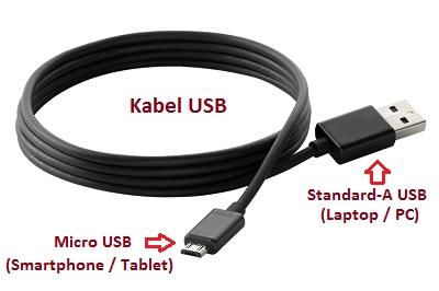 Kabel USB Smatphone atau Tablet