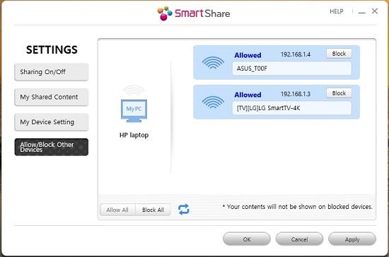 PC-DLNA: Melihat perangkat lain dari smartshare