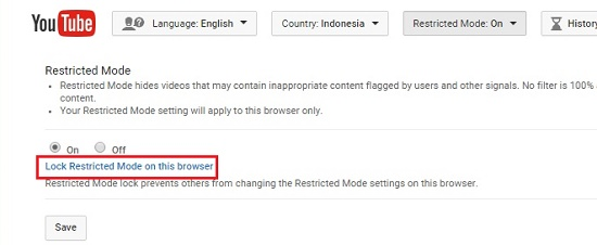 Settings Youtube dari browser di komputer-2