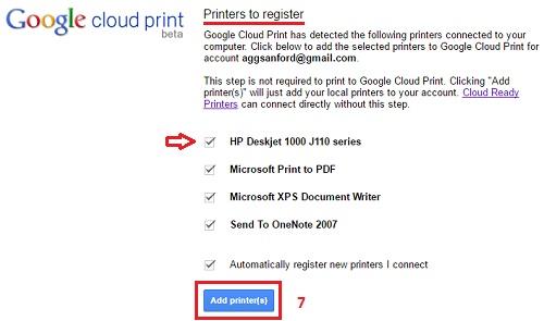 Setup Google Cloud print-4