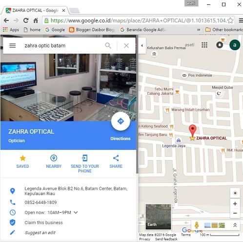 Menampilkan usaha di Google Maps - hasil pencarian