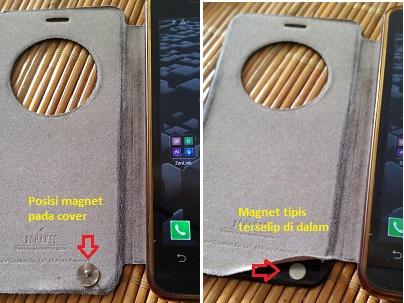 Posisi magnet pada smart cover