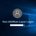 Layar login windows 10