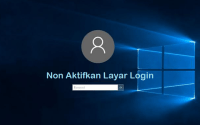 Layar login windows 10