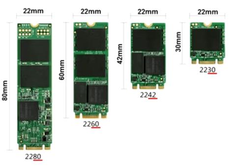 M.2 SSD dimension