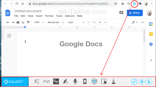 Menulis persamaan Matematika di Google Docs