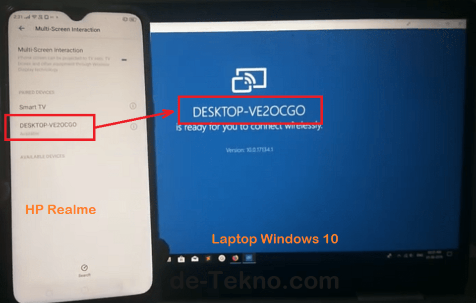 Mirror hp Realme ke Laptop Windows 10