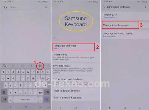 Melalui On-screen keyboard - menambahkan bahasa Arab di keyboard Samsung
