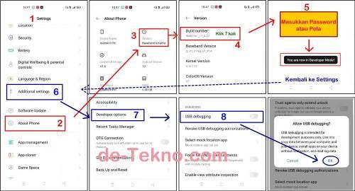 Mengaktifkan USB Debugging dan Developer options Realme 6 Pro