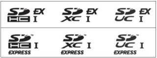 Simbol untuk Express SD Card