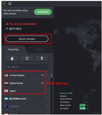 Koneksi VPN dengan Aplikasi VPN