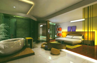 BedroomOpen Badezimmer 3D Model DownloadFree 3D Models