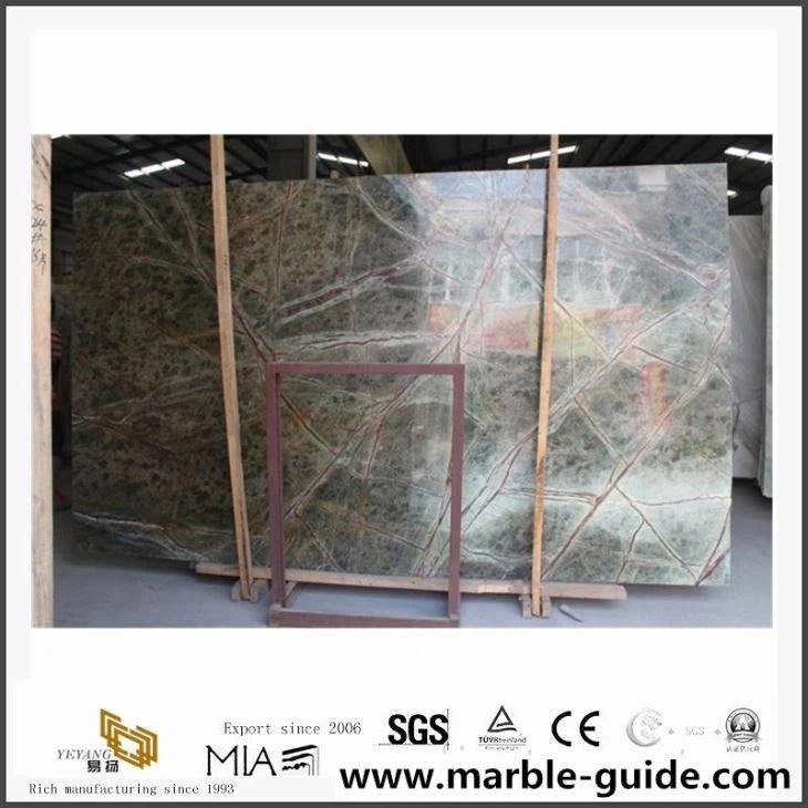 rain forest green marmor bodenfliese platte hersteller und lieferanten china grosshandelspreis yeyang stone factory