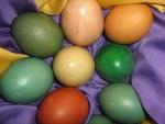 verschiedene Naturfarben für Ostereier