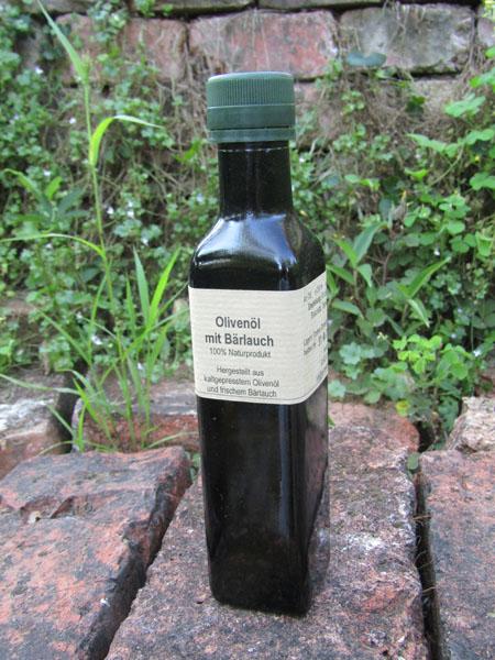 Bärlauch Öl mediterran