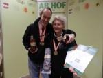 3 Medaillen gewonnen mit Weissdorn Saft, Fruechtebrot & roten Oliven