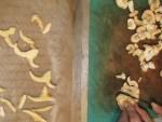 Semmelstoppel Pilze schneiden u trocknen fuer Mischpilz Granulat