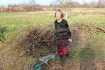 Heizen mit Biomasse - DIY mit wenig Geld Heizung bauen (Teil 1/4) Buendel auf Schubkarren