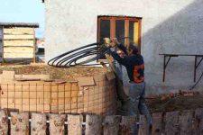 Heizen mit Biomasse - DIY mit wenig Geld Heizung bauen (Teil 1/4) naechste Leitungslage