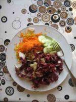 rohköstlicher Salat mit Endivien