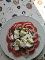 Mozzarella und Tomaten