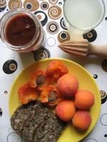 Rohkost Frühstück ohne saftige Aprikosen