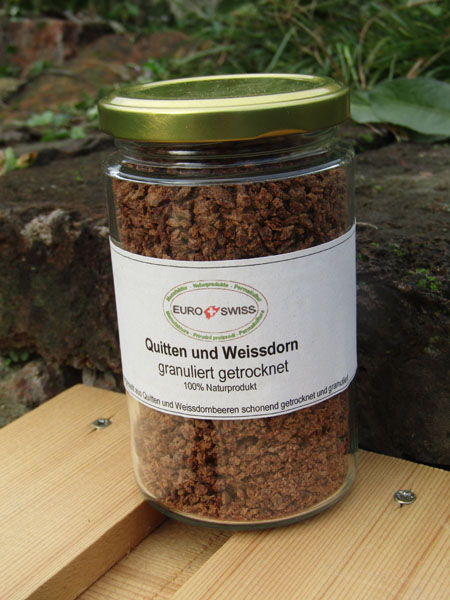 pflanzliches Bindungsmittel aus Quitte u Weissdornbeeren