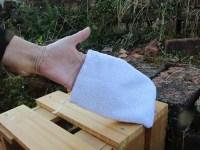 Duschhandschuh für trockene-sensible Haut