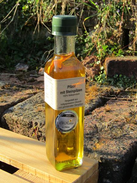 unser praemiertes Steinpilz Öl zum Würzen