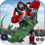 Download Wild Gorilla Transforming Robot: Dino Hunting Game 1.0 APK, APK MOD, Wild Gorilla Transforming Robot: Dino Hunting Game Cheat