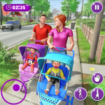 Free Download Virtual Mother New Baby Twins Family Simulator APK, APK MOD, Cheat