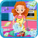 Download Girls House Dish Washing Kitchen Cleaning Game 1.0.2 APK MOD, Girls House Dish Washing Kitchen Cleaning Game Cheat