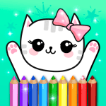 Download Coloring Pages Kids Games with Animation Effects APK MOD Cheat