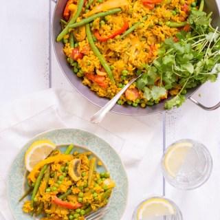 Vegetarische Paella - rein pflanzlich, ohne raffinierten Zucker, glutenfrei, vegetarisch, vegan - de.heavenlynnhealthy.com