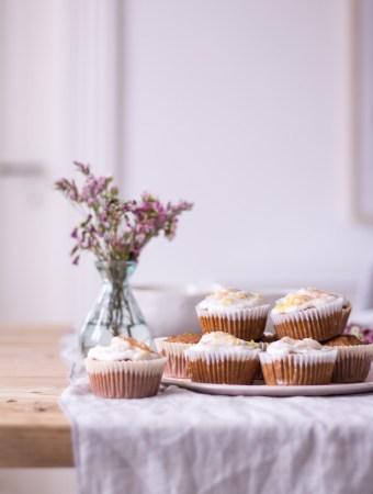 Gesunde Carrot Cake Cupcakes
