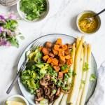 Frühlingshafte Spargel-Bowl – rein pflanzlich, vegan, glutenfrei, ohne raffinierten Zucker – de.heavenlynnhealthy.com