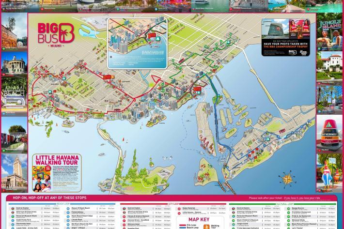 miami sightseeing-map - city sightseeing miami karte