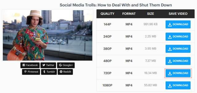 Eine Videoqualität auswählen