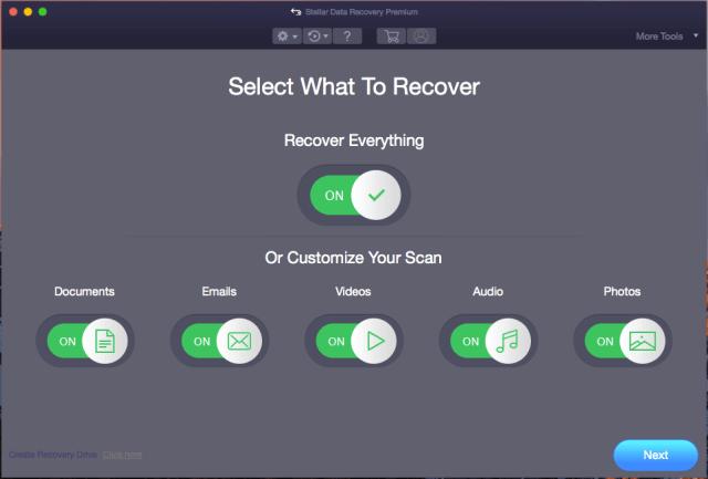 Wählen Sie aus, welche Daten wiederhergestellt werden sollen
