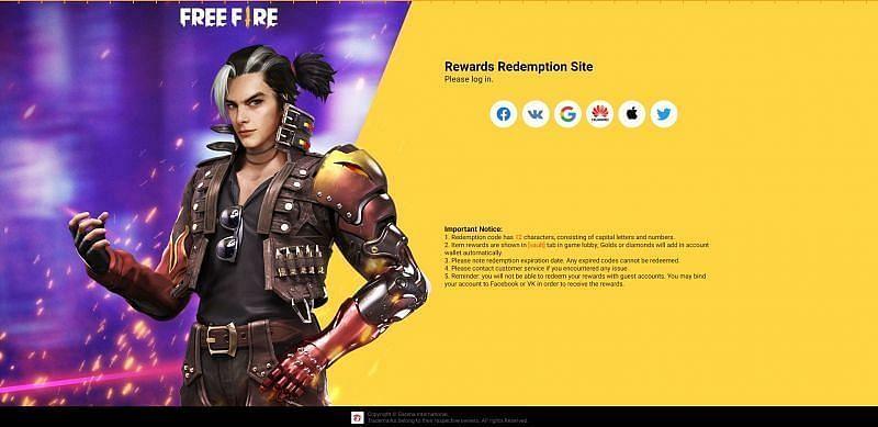 Spieler müssen sich zunächst über die Plattform anmelden, mit der sie ihre Free Fire-Konten verknüpft haben