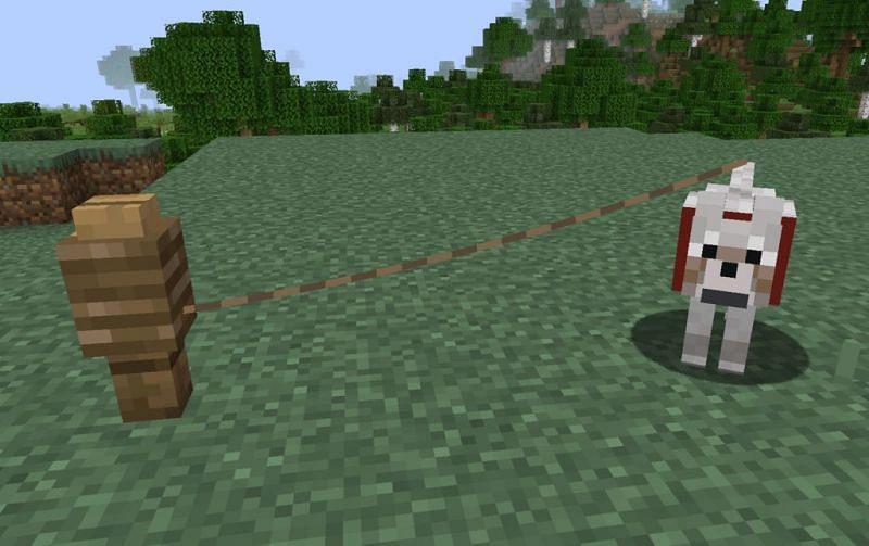 Ein Wolf an der Leine (Bild via Minecraft Station)