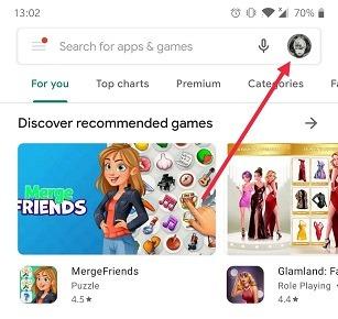 So wechseln Sie das Google-Konto Android Play Store-Konto Profilbild wechseln